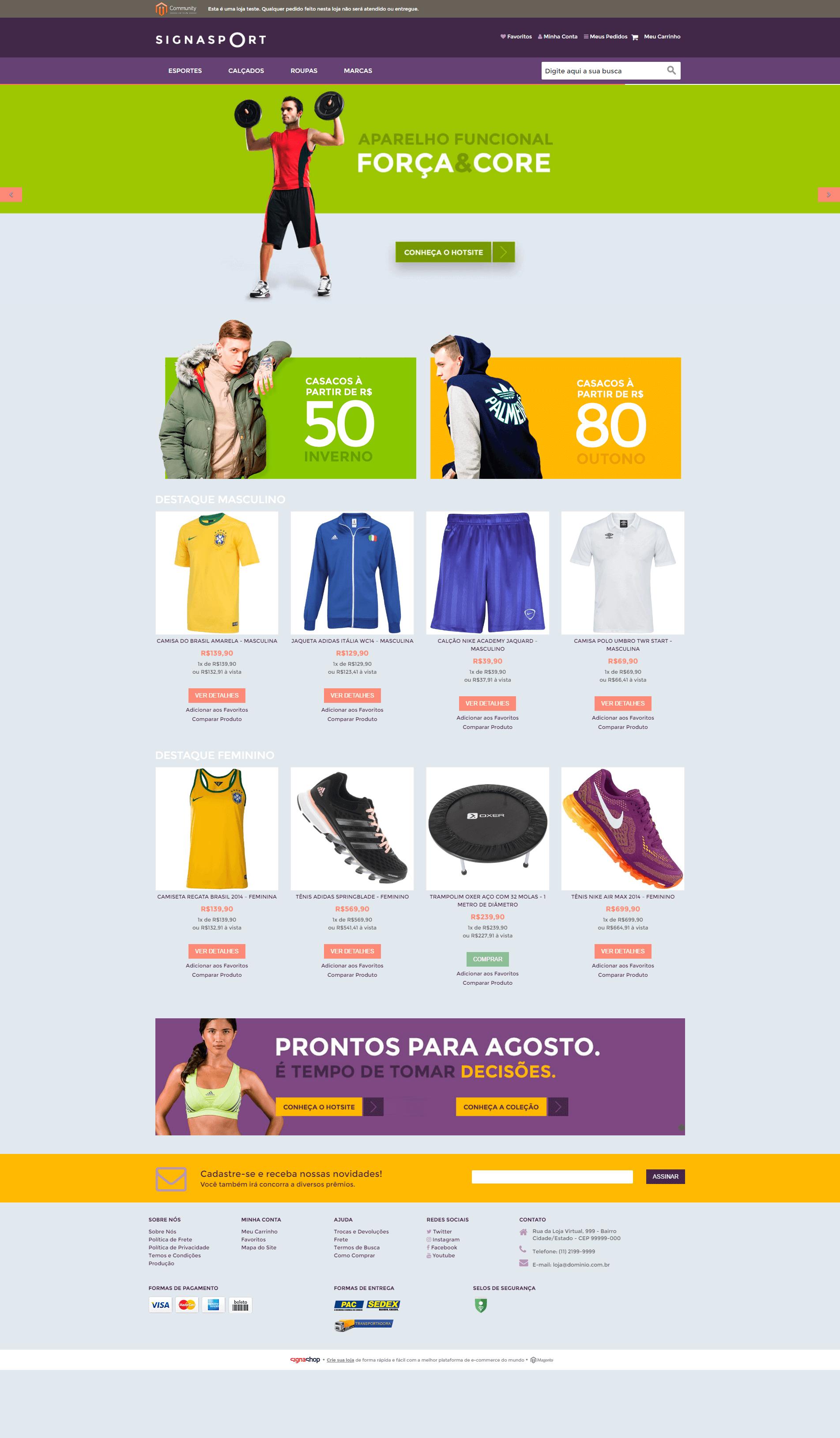 2537ce53b7a92 Loja de Esportes - Modelo 2 - Temas para sua loja virtual